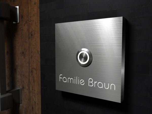 Luxury-Design high quality steel bell with Osram- LED name light & Luxury-Design high quality steel bell with Osram- LED name light ...